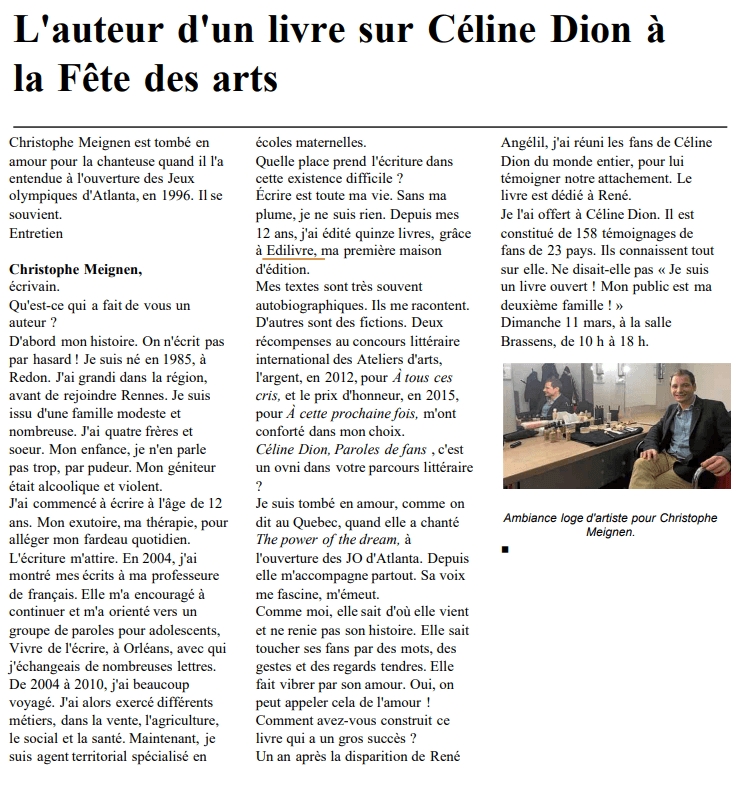 article_Ouest_France_Christophe_Meignen_2018_Edilivre
