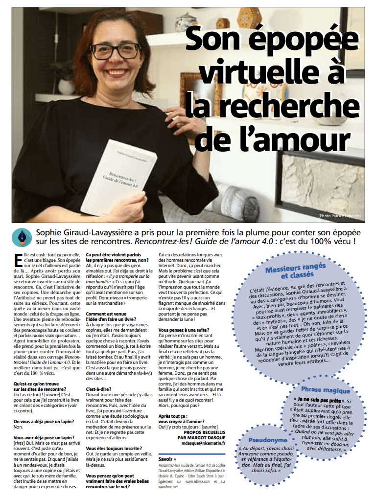 article_Nice_Matin_Sophie_Giraud_Lavayssière_2018_Edilivre