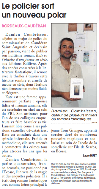article_Courrier_Français_Gironde_Damien_Combrisson_2018_edilivre